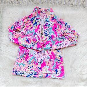 Lilly Pulitzer Pink Popover Sweatshirt